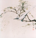 Spring. Chinese ink and color on rice paper 49x49cm    year 1983    P.O.A.